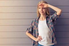 Adolescente rubio Imágenes de archivo libres de regalías