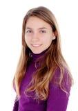 Adolescente rubio adorable que mira la cámara Fotos de archivo
