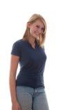 Adolescente rubio alegre Imagenes de archivo