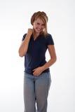 Adolescente rubio alegre Foto de archivo libre de regalías