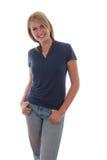 Adolescente rubio alegre Imagen de archivo libre de regalías
