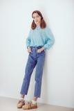 Adolescente rubio blando joven Foto de archivo libre de regalías