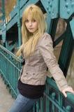 Adolescente rubio, bonito Fotos de archivo libres de regalías