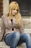 Adolescente rubio, bonito Foto de archivo libre de regalías