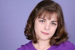 Adolescente rubio de risa Foto de archivo libre de regalías