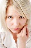 Adolescente rubio hermoso encendido Imagenes de archivo