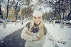 Adolescente rubio joven hermoso Foto de archivo libre de regalías