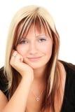 Adolescente rubio sonriente Imagenes de archivo
