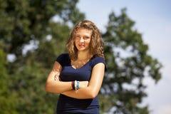 Adolescente rubio sonriente Fotos de archivo