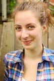Adolescente rubio sonriente Imagen de archivo libre de regalías
