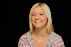Adolescente rubio sonriente Foto de archivo