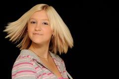Adolescente rubio sonriente Imagen de archivo