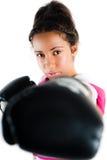 Adolescente, sacador y pinchazo jovenes del boxeo de la raza mezclada Imagen de archivo libre de regalías
