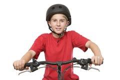 Adolescente sano y activo en la bici Foto de archivo libre de regalías