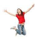Adolescente sautante Photos libres de droits