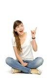 Adolescente se dirigeant vers le haut Photos libres de droits