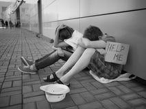 L'essere senza tetto Fotografia Stock Libera da Diritti