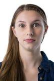 Adolescente sicuro che esamina macchina fotografica Fotografie Stock Libere da Diritti