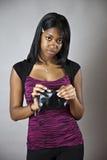 Adolescente sin el dinero Foto de archivo libre de regalías