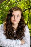 Adolescente solemne del retrato Imagen de archivo libre de regalías