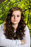 Adolescente solene do retrato Imagem de Stock Royalty Free