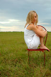 adolescente solo Fotografia Stock