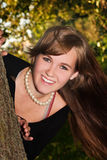 Adolescente sonriente Fotos de archivo libres de regalías