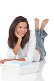 Adolescente sonriente con los libros Imagenes de archivo