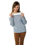 Adolescente sonriente dulce emocionado Imagen de archivo libre de regalías