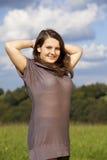 Adolescente sonriente hermoso Imagen de archivo