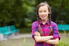 Adolescente sonriente hermoso Fotos de archivo libres de regalías