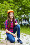 Adolescente sonriente hermoso Fotografía de archivo
