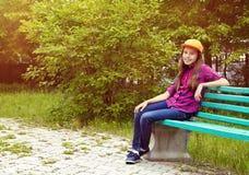 Adolescente sonriente hermoso Imagenes de archivo