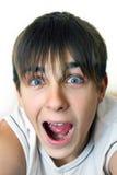 Adolescente sorprendido Imagen de archivo libre de regalías