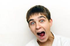 Adolescente sorprendido Foto de archivo libre de regalías