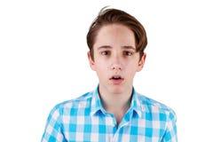 Adolescente sorprendido Imagen de archivo