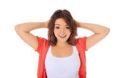 Adolescente sorpreso Fotografia Stock Libera da Diritti