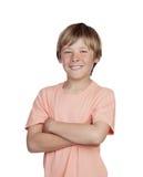 Adolescente sorridente con un gesto felice Immagine Stock Libera da Diritti