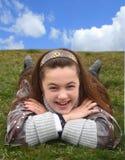 Adolescente sorridente esterno Immagini Stock Libere da Diritti