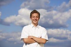Adolescente sorridente felice Fotografia Stock Libera da Diritti