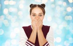 Adolescente spaventato o confuso Immagini Stock Libere da Diritti