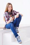 Adolescente spensierato Fotografia Stock