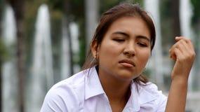 Adolescente subrayado de la muchacha Fotografía de archivo libre de regalías