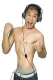 Adolescente sudoroso del asiático del disco Imagen de archivo libre de regalías