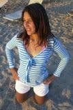 Adolescente sulla spiaggia Fotografia Stock Libera da Diritti