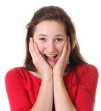 Adolescente surpreendido Imagem de Stock