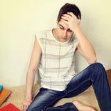 Adolescente tensionado Foto de archivo libre de regalías