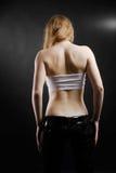 Adolescente trastornado de la parte posterior en la obscuridad Fotos de archivo