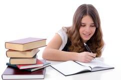 Adolescente que hace la preparación Imagen de archivo