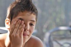 Adolescente triste Fotografia de Stock